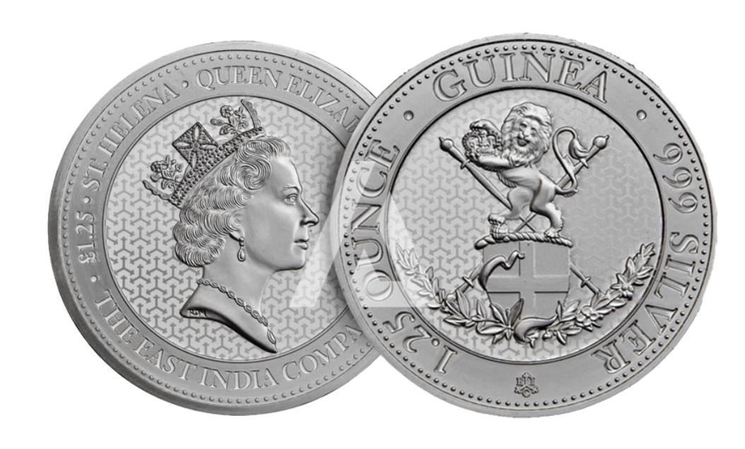 standing lion silver coin